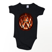 SaveEmail   Alien Weaponry - Fire Logo - Mini-Me (one-piece)