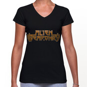 Alien Weaponry - Word Logo - Womans V Neck T